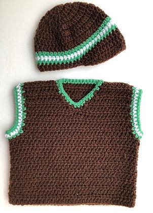 Baby Hat & Vest Set