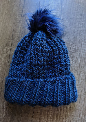 Navy Blue Adult Floof Hat