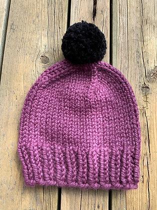 Adult Knit Pompom Hat