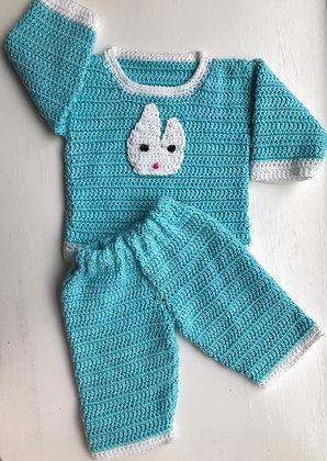 2-Piece Bunny Baby Pant Set