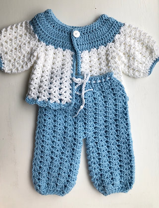 Baby Sweater and Drawstring Pant Set