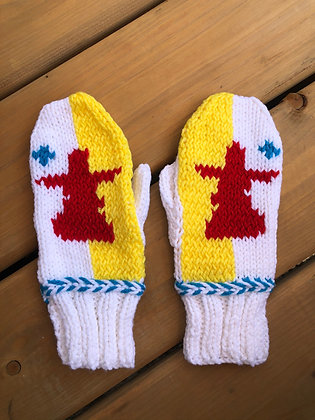 Youth Nunavut Flag Mittens