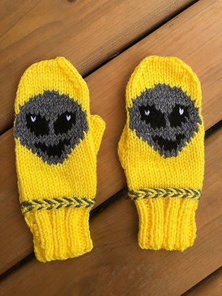 Youth Alien Mittens