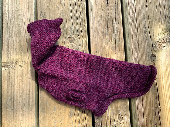 Knitted Small Dog Hoodie