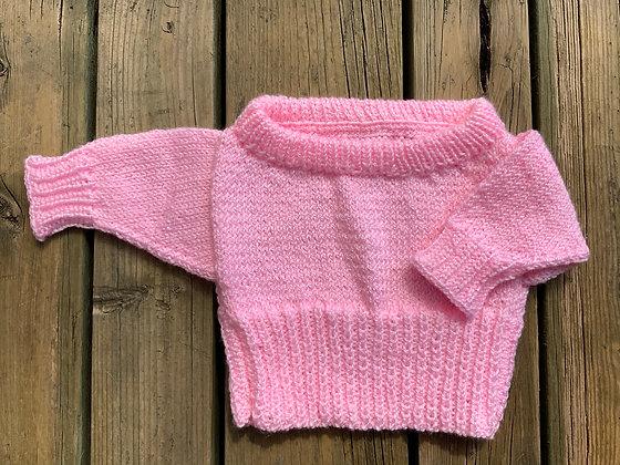 Sparkly Wide Neck Newborn Pullover
