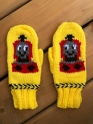 Youth Train Mittens