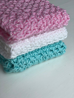 Knit Sparkle Dishcloths