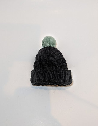 Premie Baby Cable Hat with Pompom
