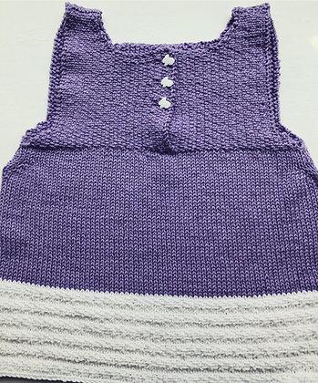 3-Button Sparkle-Cotton Bunny Baby Dress