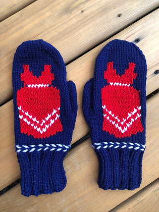 Adult Red Dress Mittens