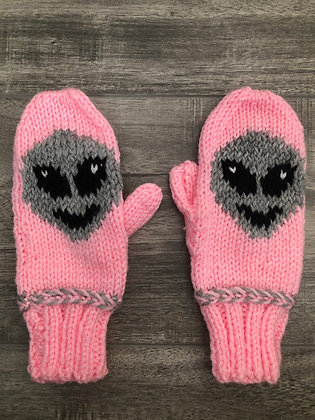 Youth Alien Mittens