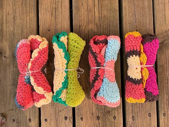 Crochet Round Dishcloths (Set of 2)