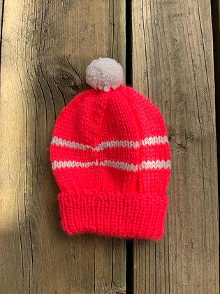 Striped Pompom Baby Hat