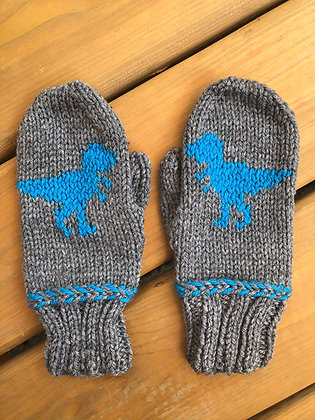 Youth Dinosaur Mittens