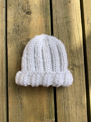 Glitter Ribbed Baby Hat