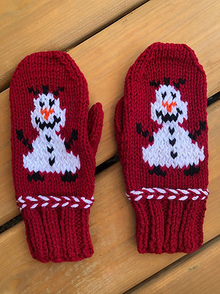 Youth Olaf Snowman Mittens