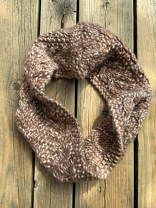 Double Cable Knit Cowl