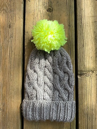 Baby Cable PomPom Hat
