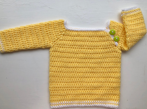 Side Button Long-Sleeved Baby Sweater