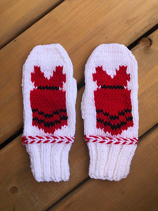 Youth Red Dress Mittens