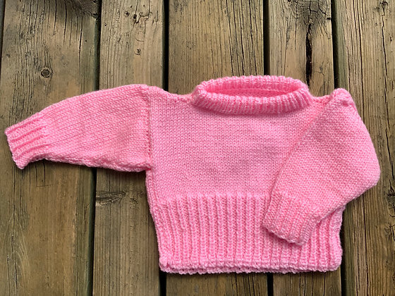 Wide Neck Baby Sweater