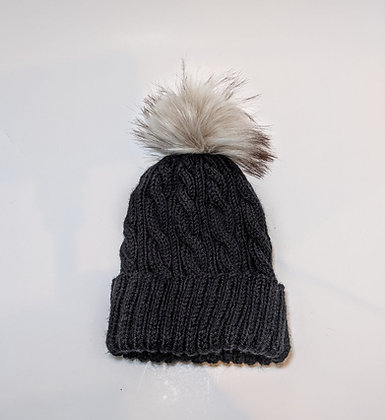 Adult Cable Floof Hat