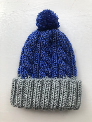 Two-Toned Cable Baby Hat
