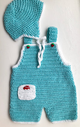 Baby Coveralls and Hat Set