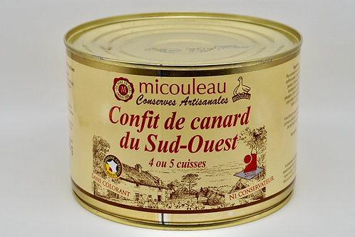 Duck Confit 4/5 Thighs Can - Confit de Canard du Sud-Ouest 4/5 Cuisses - 1580G