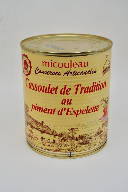 Cassoulet with Espelette Pepper - Cassoulet au Piment d'Espelette - 840G