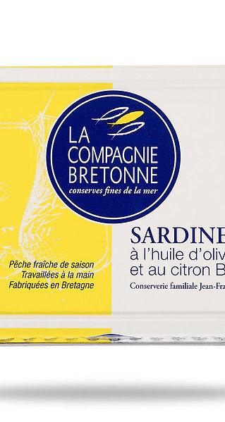 Sardines in olive oil and organic lemon - Sardines à l'huile d'olive/citron bio