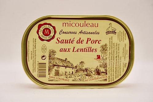 Pork with Lentils - Sauté de Porc aux Lentilles