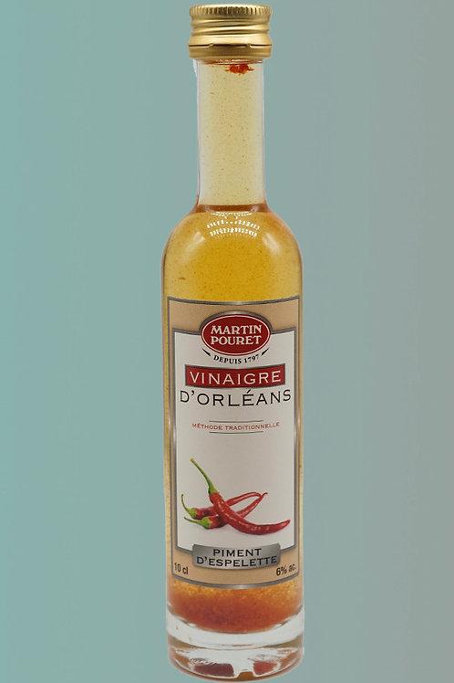 Vinegar with Espelette Pepper - Vinaigre au Piment d'Espelette, 25cl