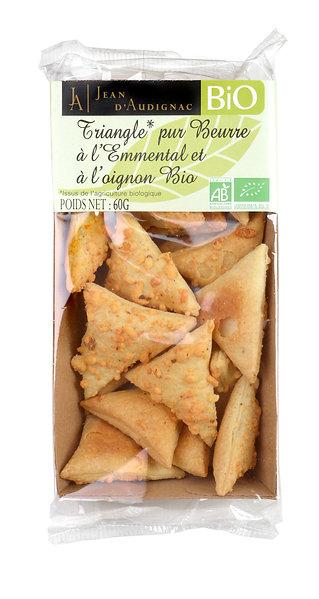 Emmental and Onion Crackers - Triangle Emmental et Oignon Bio