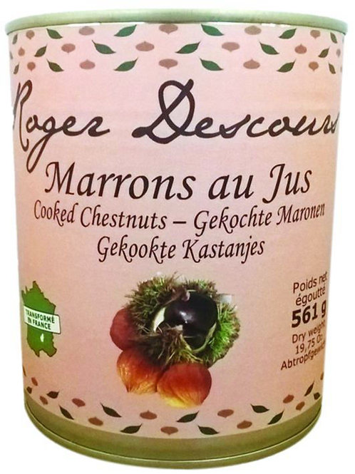 Whole Chestnuts in Juice Can - Marrons Entiers au Jus - 561 g