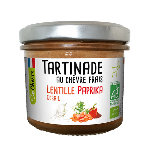Fresh Goat Cheese, Coral Lentils and Paprika, Organic - 90g