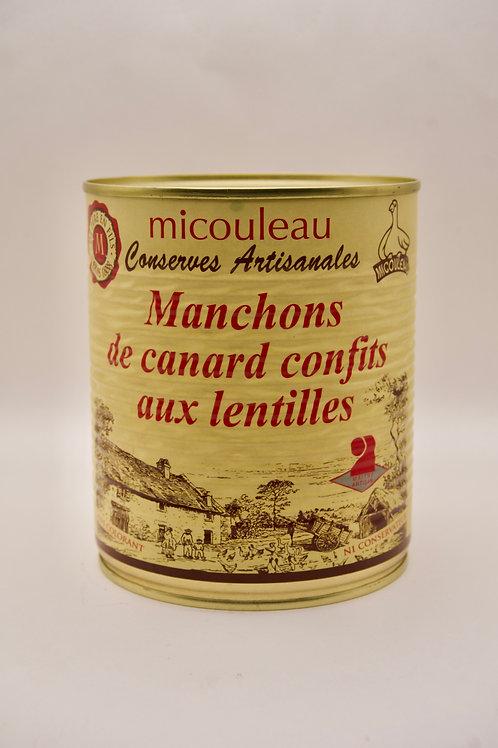 Confit Duck Sleeves with Lentils - Manchons de Canard Confits aux Lentilles