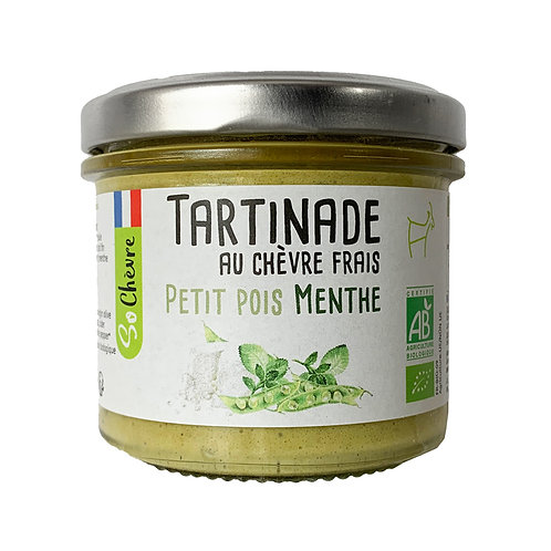 Fresh Goat Cheese, Peas and Mint, Organic - 90g