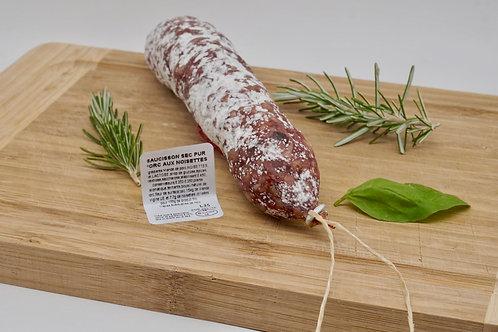 Pork & Hazelnuts Saucisson - Saucisson Sec Pur Porc aux Noisettes