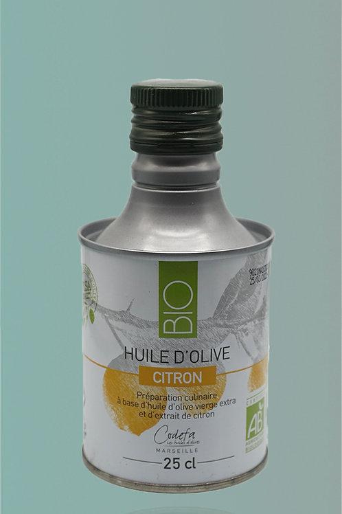 Virgin Olive Oil with Lemon - Huile d'Olive Vierge Extra au Citron - 25cl