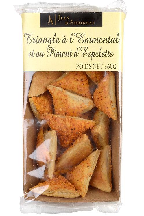 Emmental and Espelette Pepper Crackers - Triangle Emmental & Piment d'espelette