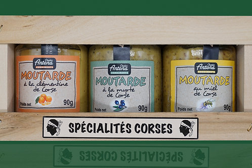 Assortment of 3 jars of Corsican Mustard - Pack de 3 Pots de Moutarde Corse