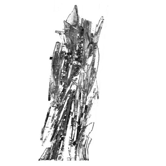 Crioman b&w / GlassAir Series / Ink print on methacrylate / 20x20x6 cm / 2015 / Edition: 7