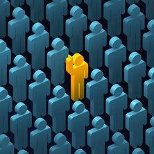Hand raising individual in a crowd.jpg