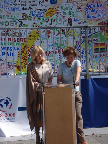 Veronique translates for Joan Roth.JPG