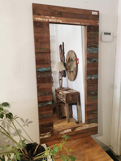 """Miroir en bois recyclé L28""""x H55"""""""