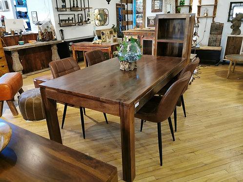 """Table à dîner en bois de rose 70"""" x 40"""""""