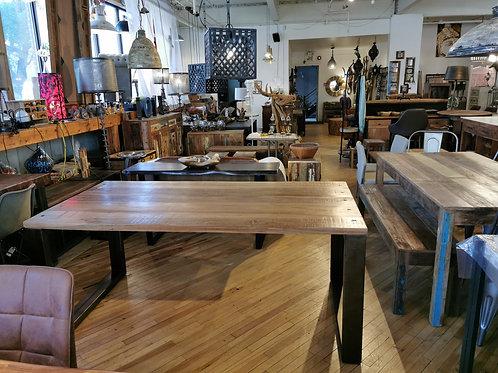"""Table à dîner en bois recyclé L71"""" x 36"""""""
