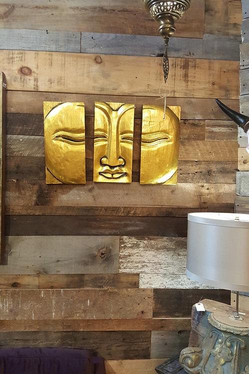 Bouddha sculpté sur bois