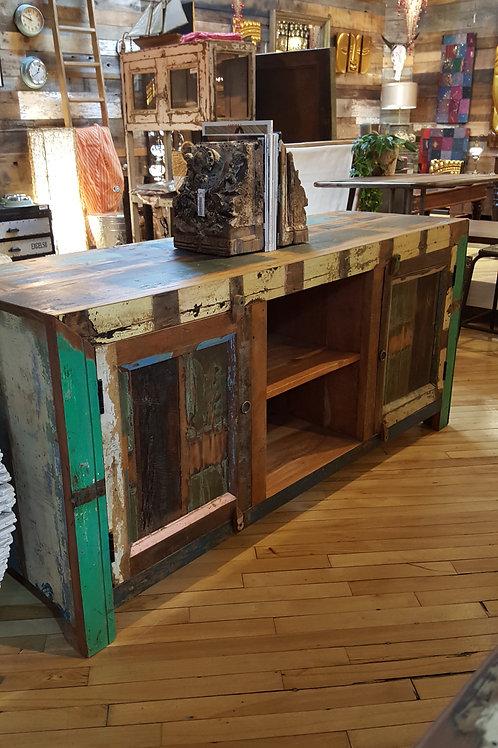 Meuble TV en bois recyclé, demandez la photo au magasin